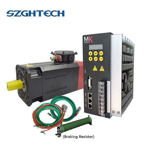 best price 7.5KW 8000RPM HIGH SPEED ANALOG AC SERVO SPINDLE MOTOR and driver KIT