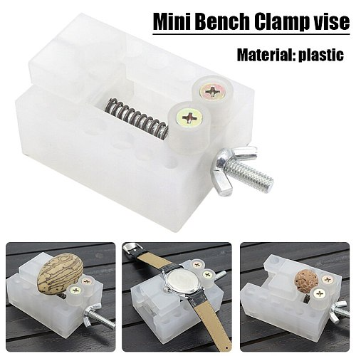 1pc White Jaw Bench Clamp Mini Drill Press Vice Micro Clip Flat Vise DIY Hand Tools 65*50*25 mm