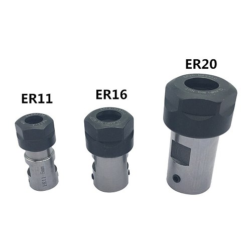 1PC ER11 Collet Chuck Extension Rod Spindle Collet Lathe Tools Holder Inner 5MM 6MM 8MM For CNC Milling Boring Grinding
