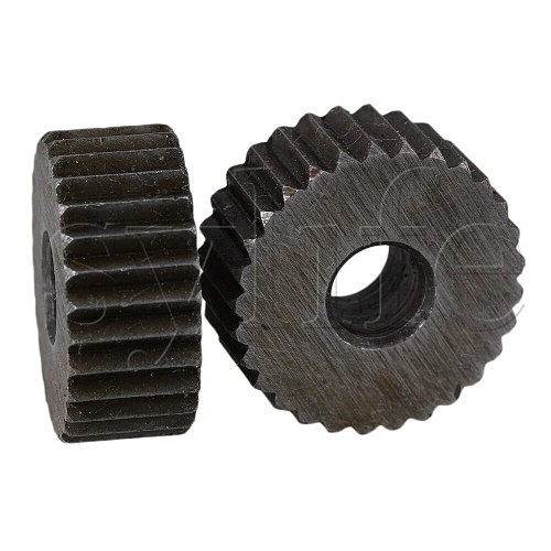 2 x Durable Steel Single Straight Coarse Linear Knurling Wheel 2mm Pitch