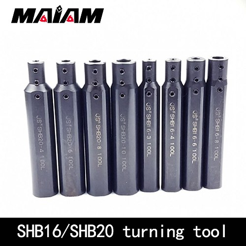 round shank small aperture bore hole turning tool holder SHB20 SHB16 SHB1 milling flat lathe hole boring tool holder sleeve