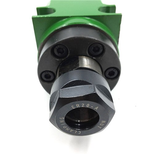 2HP 1.5KW Milling Spindle Head ER20 Power Head Unit 80mm 5pc Bearing 5000~6000rpm for CNC Milling Machine