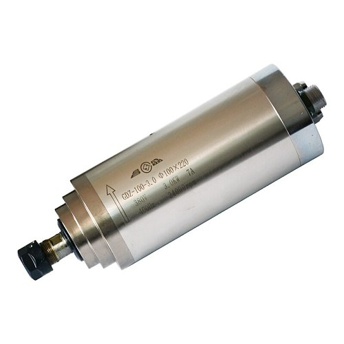 220v 3kw water cooled spindle ER20 400Hz 100mmx220mm 4 bearings CNC spindle motor for engraving drilling