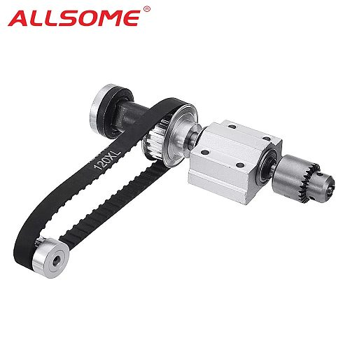 ALLSOME DIY Woodworking Cutting Grinding Spindle Trimming Belt B10/JTO/B16 Drill Chuck Set Small Lathe Accessories for Table Saw