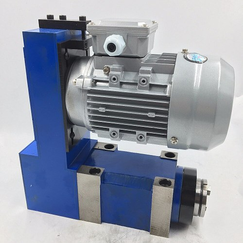 MT2 Taper Boring Milling Spindle Power Head 10000rpm 250W Induction Motor Synchronous Belt Drive for CNC Machine
