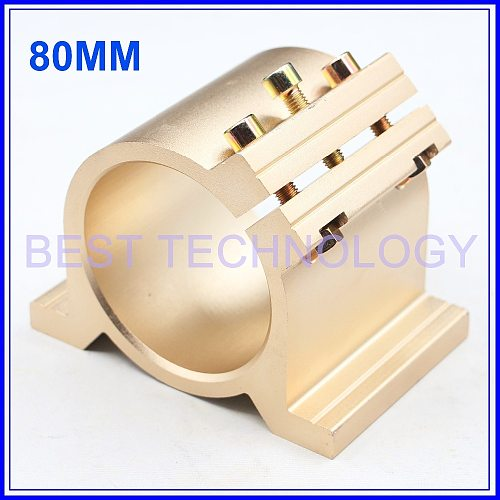 New Design! 80mm Fixture CNC Spindle Motor Clamping Bracket  cnc machine tool spindle motor mount bracket,  Gold Type !!
