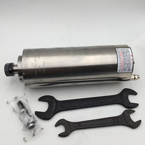 800W 220V Water-cooled ER11 Spindle Motor 2.9A 133~400Hz 8000~24000rpm GDS800 II for CNC Engraving Machine