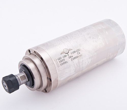 4HP 3kw 24000RPM ER20 water cooling Woodworking AC Spindle motor 100mm 380VAC 8A 400hz CNC Router