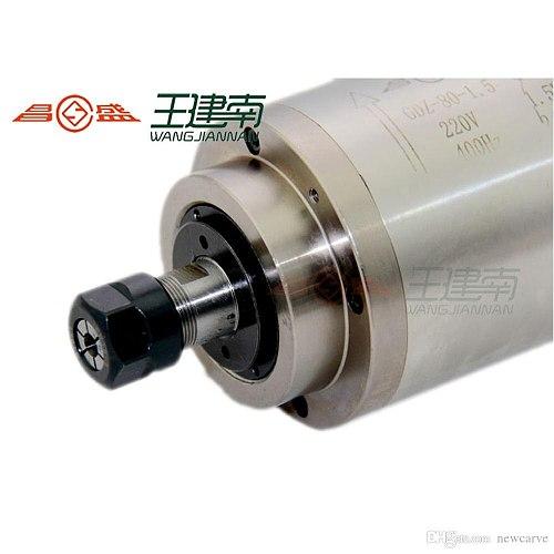 Newcarve CNC Spindle Motor 1.5KW 220V 380V 4 Bearing Water Cooled Spindle ER16 With 80mm Diameter