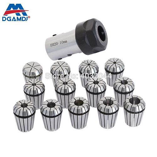 1set C25 ER20 50L 8mm 10mm 12mm 14mm 16mm +6pcs 3 4 6 8 10 12mm Collet tool holder,spindle Motor Shaft Extension Rod