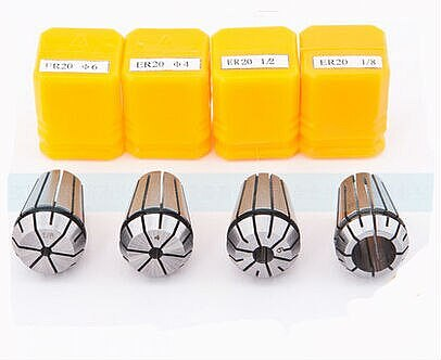 Free Shipping 10PCS for ER8 Collet Spring ER8 Collet Chuck for Spindle Motor Engraving/Grinding/Milling/Boring/Drilling/Tapping