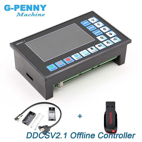 New Arrival! DDCSV2.1 Offline Controller Support 3 axis/4 axis USB CNC controller interface CNC Router Engraving Milling machine