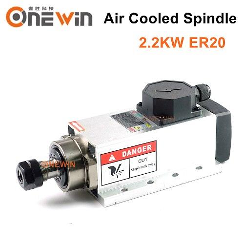 2.2KW 220V 380V air cooled spindle motor ER20 Ceramic Bearing for cnc engraving machine GDZ80x73-2.2