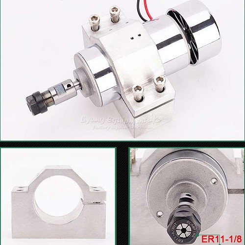 good stability 300W Air-cooled cnc machine spindle motor cnc spindle clamp DC 48V for pcb milling machine