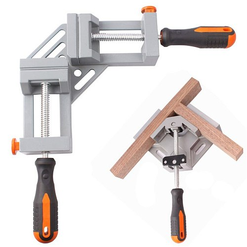 Wood Working Clamps Angle Clamps 90-degree Angle Vise Double Handle Adjustable For Frame Fight Splices Clip Woodworking Tools