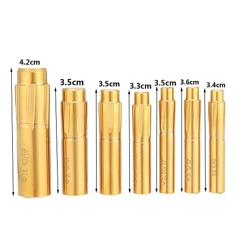 5.5-11.43mm 6 Flutes Spiral Reamer Push Rifling Button Chamber Helical Machine Machine Tools Accessories Reamer