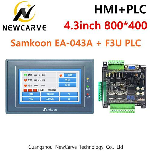 Samkoon EA-043A HMI Touch Screen 4.3 Inch And FX3U Series PLC Industrial Control Board Newcarve