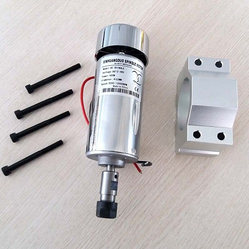 air cooled 400W DC Spindle Motor 0.4KW 12-48V DC ER11 collect + 52mm Mount bracket fixture for PCB CNC Mahine