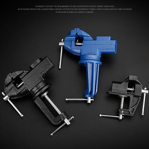 1pcs 60mm Heavy Table Vise Bench Vice Universal Vise Desktop Vise Multifunctional 360 degree clamp fixture