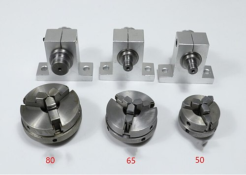 50/65/80 Lathe Spindle Woodworking Simple Miniature Lathe Spindle, Bead Machine, Chuck Spindle, Lathe Spindle