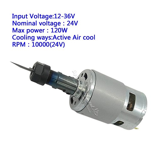 10000 rpm mini cnc spindle 120W with ER11 collet Extension Rod For Engraver Milling Tools