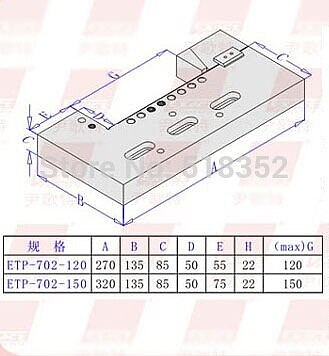 EPT-702 Precision EDM Vises / High Precision SUS440/420 Stainless Steel Vice Jig Tools for EDM Wire Cutting Machine