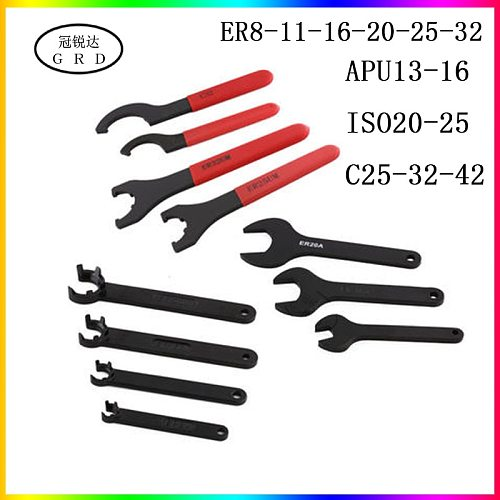 apu er iso c series collet wrench er8 er16 er20 er25 er32 apu13 apu16 iso20 25 c25 c32 c42 chuck wrench are suitable for nuts