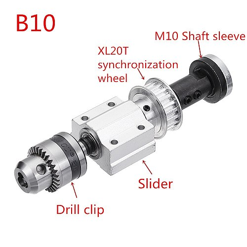 No power DIY woodworking cutting grinding spindle Trimming Belt B10/JTO Drill Chuck Set Small Lathe Accessories for Table Saw