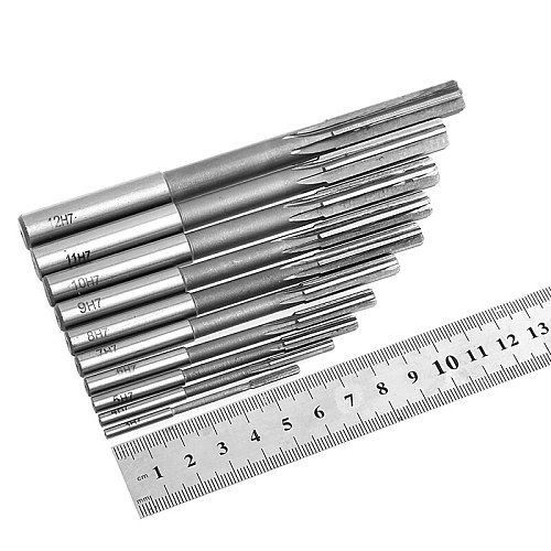 HSS Straight Shank Chucking Reamer Machine Reamer Milling Cutter Tool 3/4/5/6/7/8/9/10/11/12mm