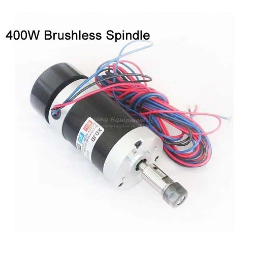 High Speed ER11 DC 400W Brushless Spindle Motor 48V for cnc milling machine 3020/3040/6040
