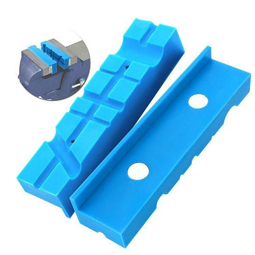 5.5in Vise Jaws Milling Vise Jaw Clamps with Magnetic Nylon Vise Pad for Holding Firearms Pipe Machine Accessories