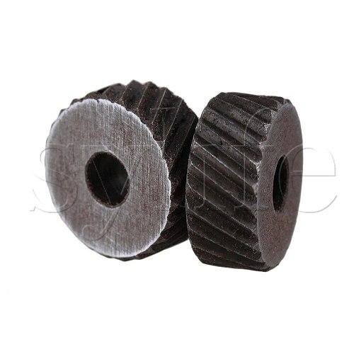 2pcs Positive & Negativ Knurling Tool Silver Diagonal Wheel Knurl 2mm Pitch