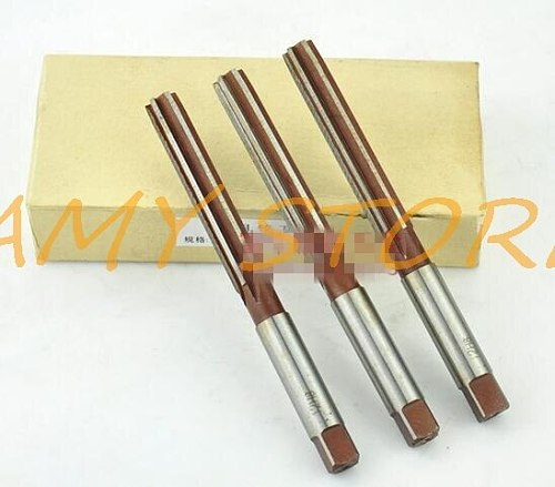 1Pc Straight Shank 6 Flutes 1/2  12.7mm x 72mm Cutting HSS Hand Chucking Reamer