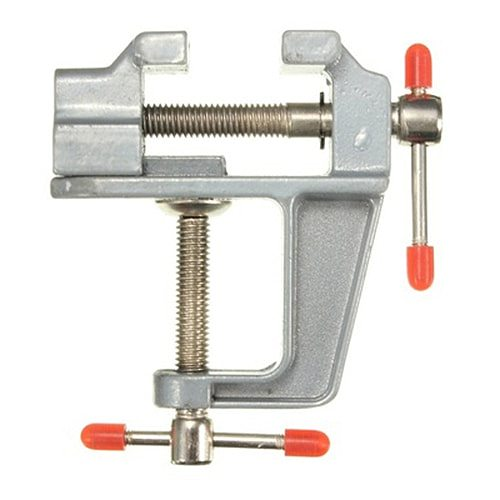 GTBL Aluminum Miniature Small Jeweler Clamp On Table Bench Vise Tool Vice 85mm x 95mm