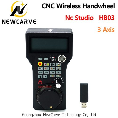 HB03 Nc Studio 3 Axis Handwheel Wireless MPG Handwheel Weihong Remote Controller For CNC Router Replace WHB03 NEWCARVE