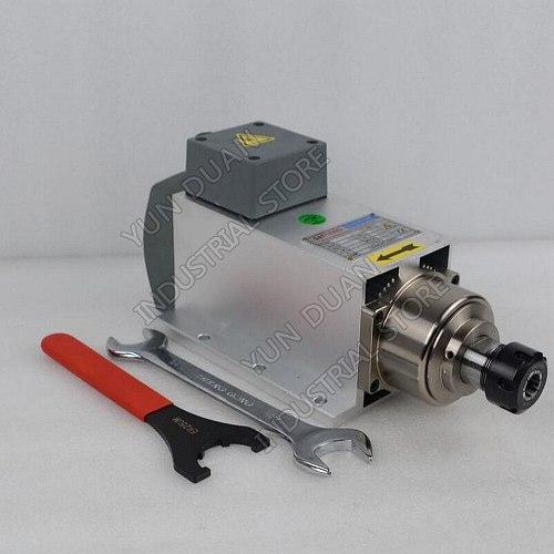 Fan Air Cooled 2.2KW ER25 220V 380V AC High Speed Spindle Motor for CNC aluminum Copper Soft metal Engraving Milling drilling