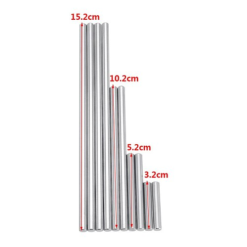 New 10pcs 5.2mm Ejector Pins Set for Pushing Rifling Buttons High Hardness Full Specifications Steel Reamer Machine Tools