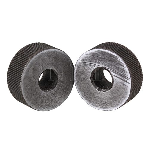 CNBTR 2 x Knurling Tool Silver Single Straight Wheel Linear Knurl 0.5mm Pitch