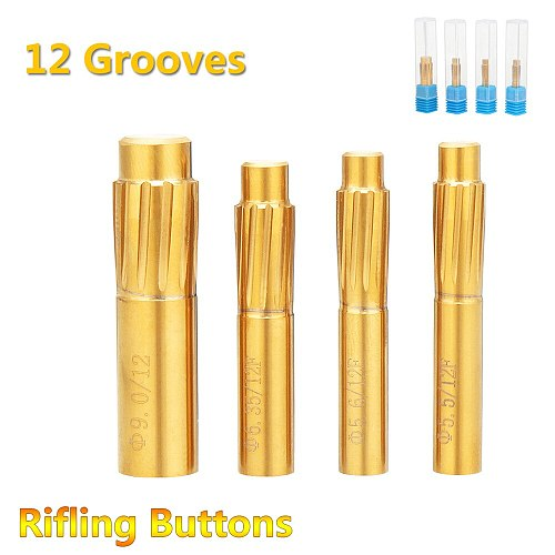5.5mm-9.0mm Rifling Button 12 Flutes Hard Alloy Chamber Helical Machine Reamer Tool Accessories with Storage Box Break Durable
