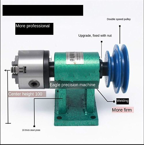 Lathe Spindle Assembly with Flange Connection Plate Transition Plate 80/125/160 Spindle Three-jaw Four-jaw Chuck Free Shipping