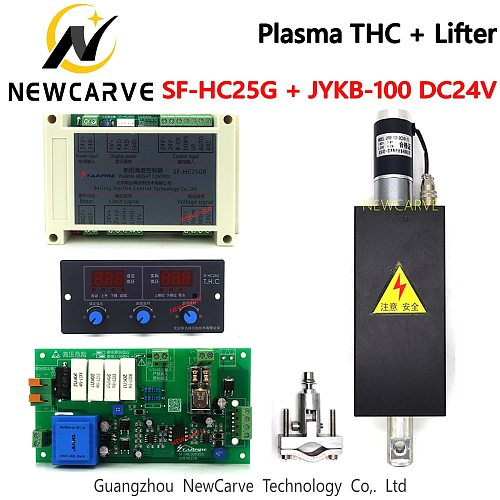 SF-HC25G Plasma THC Arc Voltage Height Controller With THC Lifter JYKB-100 For Plasma Cutting Machine Height Adjuster NEWCARVE