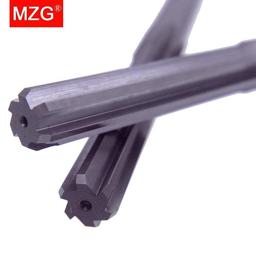 MZG  1PCS HRC55 6 Flute 4 5  6 8 12 mm Straight Flute CNC Lathe Machining Carbide Milling Tungsten Steel Milling Cutter Reamer