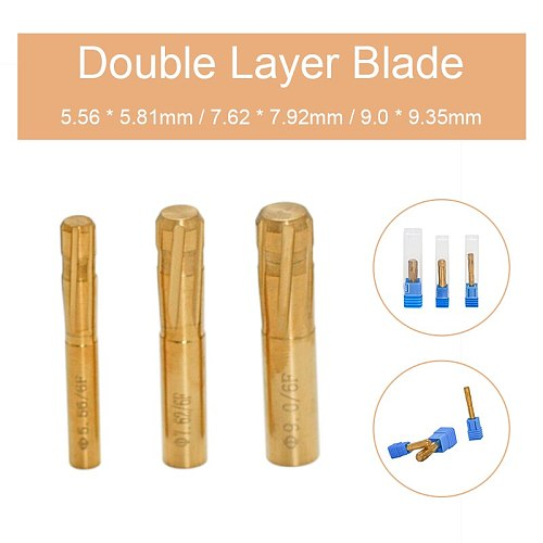 6 Flutes Grooves Spiral Reamer Rifling Buttons 5.81-9.35mm Push Double Layer Blade Reamer for Rifled Barrel Machine Tool Reamer