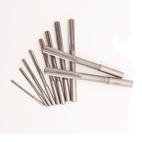 10pcs/set HSS 4241 straight shank machine reamer 3/4/5/6/7/8/9/10/11/12mm H7 high precision chucking reamer