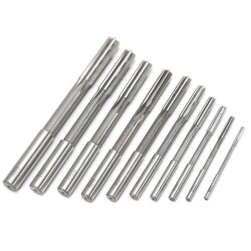 10pcs HSS H7 Straight Shank Milling Reamer Chucking Machine Cutter Tool 3/4/5/6/7/8/9/10/11/12 mm For Reaming Hole Repair Mayitr