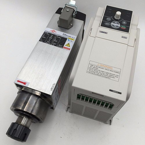 3.5KW ER25 Spindle Motor Air-cooling 18000rpm 220V & 3.7KW VFD inverter Variable Frequency Driver CNC Woodworking Drilling Kit