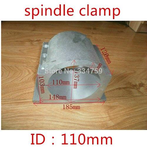 110mm spindle clamps bracket seat carving machine clamp motor holder cast aluminum sandblasting surface for 110mm spindle motor