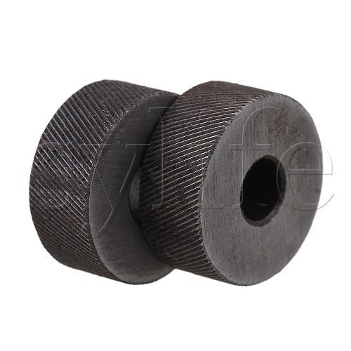 2PCS 0.5mm Pitch Diagonal Coarse 19mm OD Knurling Wheel Roller Tool Steel