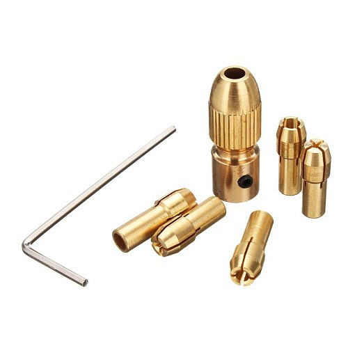 8pcs 0.5-3mm Copper Small Electric Drill Bit Collet Twist Drill Chuck Tool for 3.17/5.05mm Shank New