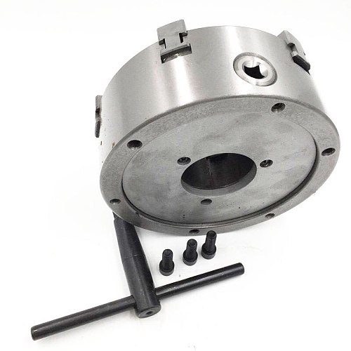200mm 8 Inch 6 Jaw Lathe Chuck Self Centering SANOU K13-200 Hardened Reversible Mounting Tool for Drilling Milling Woodworking